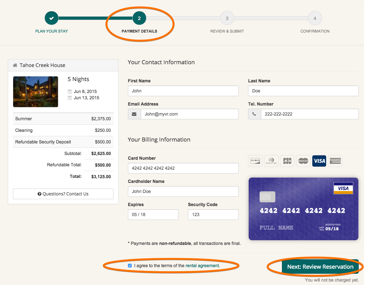 manual to online reservation